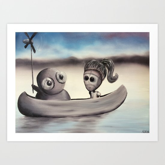 I Wanted to Take You On A Boat Ride But My Arms Are Too Nubbly to Row So I Invented This by billypettingerart