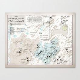 NYS Adirondack 46er Atlas Inspired area map Canvas Print