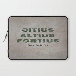 Citius Altius Fortius Laptop Sleeve