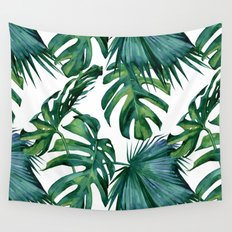 Tropical Palm Leaves Classic Wall Tapestry