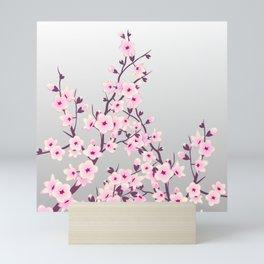 Cherry Blossom Pink Gray Mini Art Print