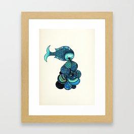 keep pukin' Framed Art Print