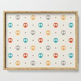 Pattern Skulls Color Serving Tray