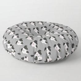 Black and White Pit Bull Floor Pillow