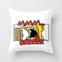 MMM... BEER Throw Pillow