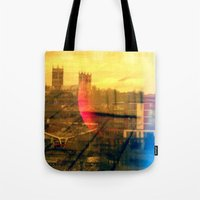 lincoln Tote Bags featuring Lincoln by Jonathan Wright Productions