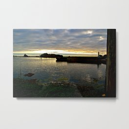 Sutro Baths Sunset Metal Print