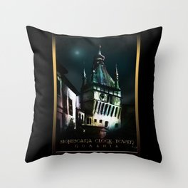 #SighisoaraClockTower Throw Pillow