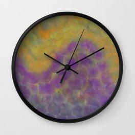 Watercolor Curve Mosaic Wall Clock