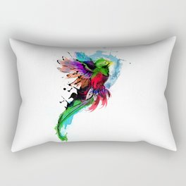 Watercolor Quetzal  Rectangular Pillow