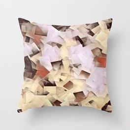 Geometric Stacks Neutrals Throw Pillow