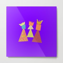 three kings purple Metal Print
