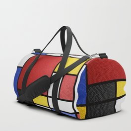 Mondrian in a Leather-Style Duffle Bag