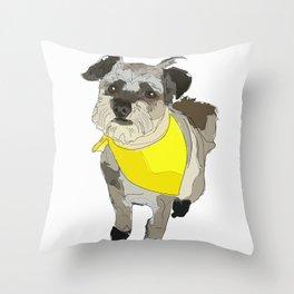 Thor the Rescue Dog Throw Pillow