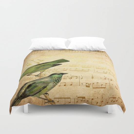 Vintage gold Music #6 Duvet Cover