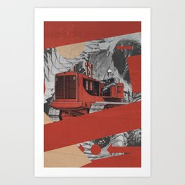 Red Valley Art Print
