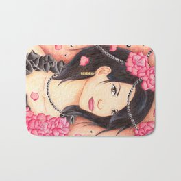 Flower Girl Bath Mat