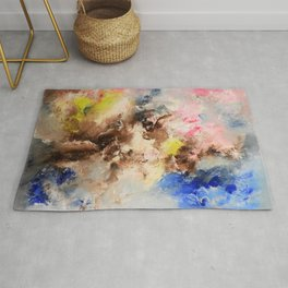 The confrontation of the clouds. Bright abstract art. Rug