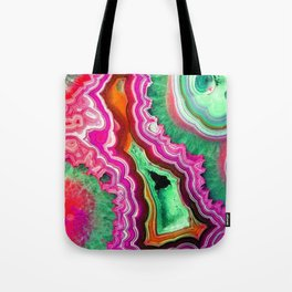 Unicorn Candy Quartz Crystal Agate Tote Bag