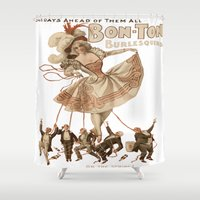 burlesque Shower Curtains featuring Bon-Ton Burlesque by taiche