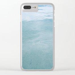 blue 103 Clear iPhone Case