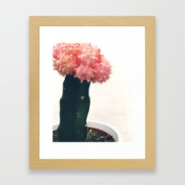 Pinky the Cactus Framed Art Print