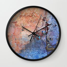 Apricot and Orchid Wall Clock
