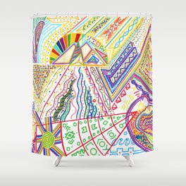 PowerLines 32 Shower Curtain
