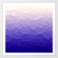 Krystals (Purple) Art Print