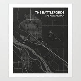 The Battlefords, Saskatchewan Art Print
