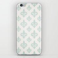 fleur de lis iPhone & iPod Skins featuring Fleur-de-lis by Juste Pixx Designs