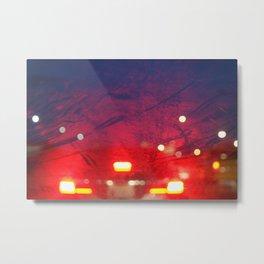 steamy car light bokeh Metal Print
