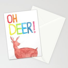 Oh Deer (Watercolor) Stationery Cards