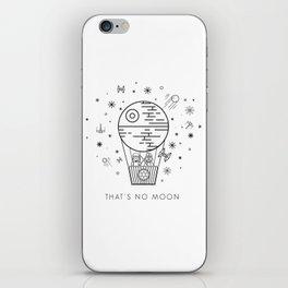That's No Moon Death Star Hot Air Balloon Storm Tr iPhone Skin