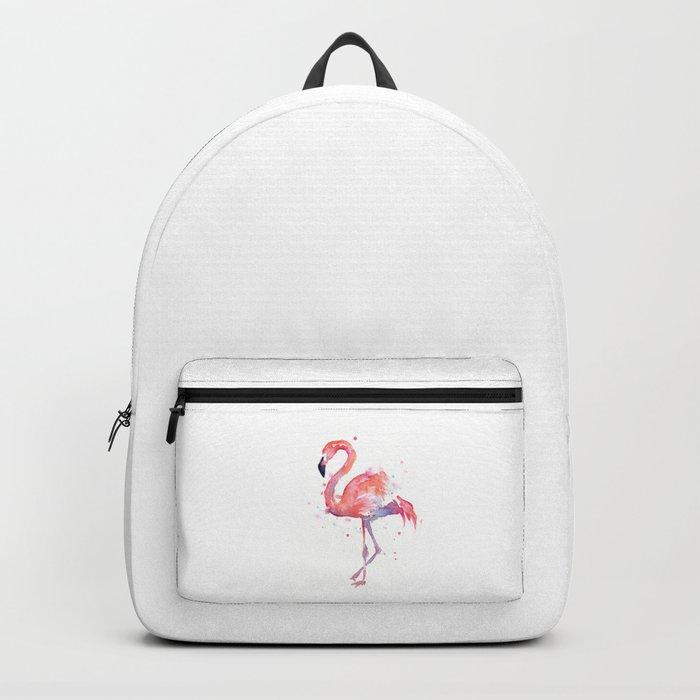 Flamingo Watercolor Backpack