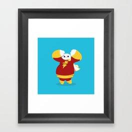 CaptainMarvel x Baymax (Captainmax) Framed Art Print