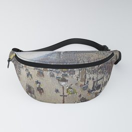 Camille Pissarro  -  Boulevard Montmartre  Morning  Cloudy Weather Fanny Pack