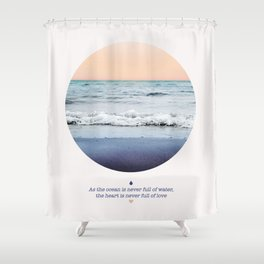 LAVA LOVE Shower Curtain