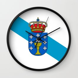flag of Galicia Wall Clock
