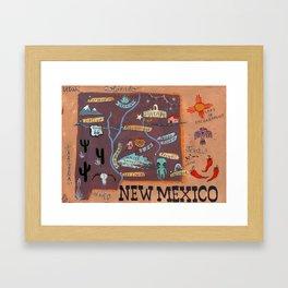 New Mexico map Framed Art Print