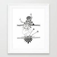 pocahontas Framed Art Prints featuring Pocahontas by Hannah de Lisle