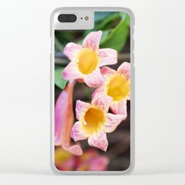 Tangerine Beauty Cross Vine - Three Plus One Clear iPhone Case