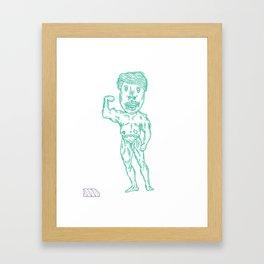 Feel The Pump. Framed Art Print