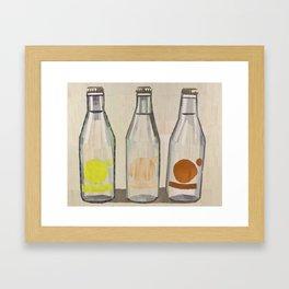 clear glass bottles Framed Art Print