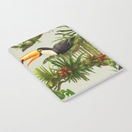 Toucans and Bromeliads (Canvas Background) Notebook