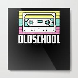 Retro Old School Cassette 80s 90s Metal Print