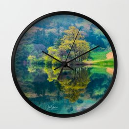 Reflections of Spring Wall Clock