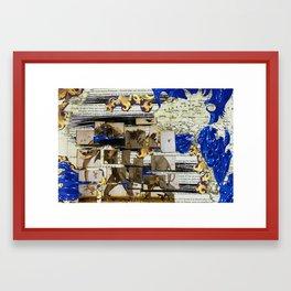 Elephant travels Framed Art Print