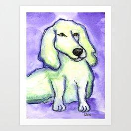 Lime Dog Art Print