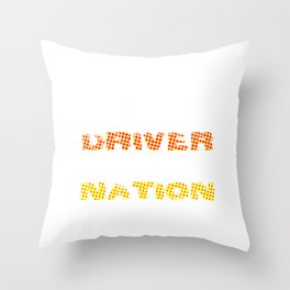 a bus driver drives the future of the nation Spots Throw Pillow